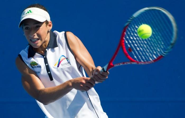Seone Mendez, December Showdown, Optus 14s Australian Teams Championships, Melbourne Park, 2012. XUE BAI