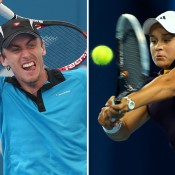 John Millman (L) and Ashleigh Barty have been awarded wildcards into Australian Open 2013; Getty Images
