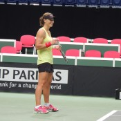 Sam Stosur during a practice session in Ostrava; Tennis Australia