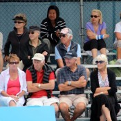 Fans take in the action at the Launceston Women's Pro Tour event; Denis Tucker