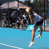 Olivia Rogowska in action at the Launceston Women's Pro Tour event; Denis Tucker