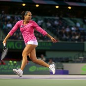 Jelena Jankovic in action during her quarterfinal win over Roberta Vinci at the Sony Open in Key Biscayne, Florida; Getty Images