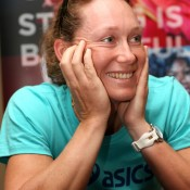 Sam Stosur speaks to the media during WTA All Access Hour during Day 1 of the BNP Paribas Open at Indian Wells Tennis Garden in Indian Wells, California; Getty Images