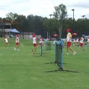 MLC Tennis Hot Shots is enjoyed by kids at the City of Ipswich Tennis International; Tennis Australia