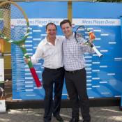Ipswich Mayor Paul Pisasale and Tennis Queensland's Matt Richards at the City of Ipswich Tennis International draw ceremony; Tennis Australia