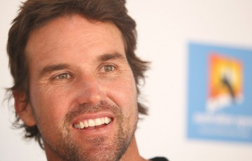 Pat Rafter at Australian Open 2013; Getty Images
