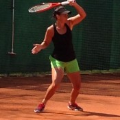 Casey Dellacqua during an Australian Fed Cup team practice session; Tennis Australia