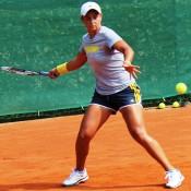 Ash Barty practises; Tennis Australia