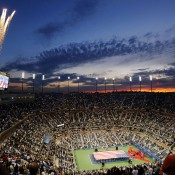 It may have its detractors who claim the arena is too big, but you can't deny the wow factor of the US Open's Arthur Ashe Stadium, especially stunning at sunset and affording panoramic views of the Manhattan skyline; Getty Images