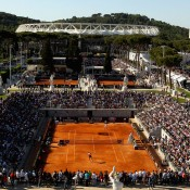 Court Pietrangeli, the secondary stadium at the Rome Masters event, is set in a delightfully classical environment, a sunken court surrounded by stunning sculptures and providing an intimate yet electric atmosphere; Getty Images