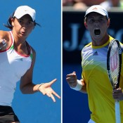 Viktorija Rajicic (L) and James Duckworth claimed the titles at the Bundaberg Tennis International Pro Tour event; Getty Images