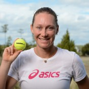Sam Stosur during her media commitments at the Family Circle Cup in Charleston, South Carolina, USA; Chris Smith/Family Circle Cup