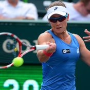 Sam Stosur in action during her second round win over Marina Erakovic at the WTA Family Circle Cup in Charleston; Chris Smith/Family Circle Cup