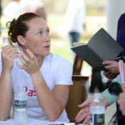 Sam Stosur chats to the media ahead of the WTA Family Circle Cup in Charleston; Chris Smith/Family Circle Cup