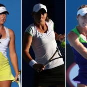 (L-R) Storm Sanders, Viktorija Rajicic and Azra Hadzic each enjoyed impressive rises in the latest edition of the WTA rankings; Getty Images