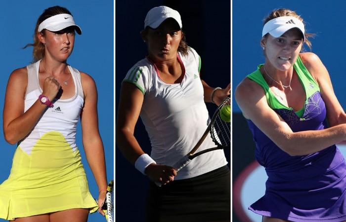 (L-R) Storm Sanders, Viktorija Rajicic and Azra Hadzic each enjoyed impressive rises in the latest edition of the WTA rankings; Getty Images
