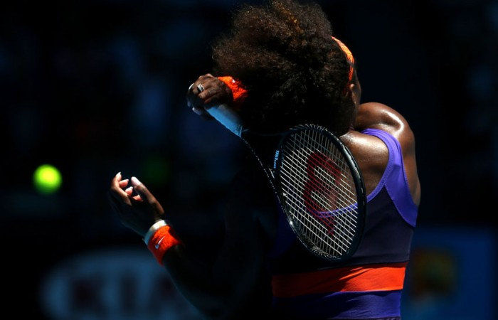Serena Williams in action at Australian Open 2013; Getty Images