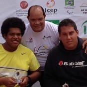 Keegan Oh-Chee (L) and Jerry Markoja (R) finished runner-up in the doubles in Brazil; Tennis Australia