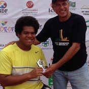 Keegan Oh-Chee (L) was runner up in the singles final at the DF Wheelchair Tennis Open in Brazil; Tennis Australia