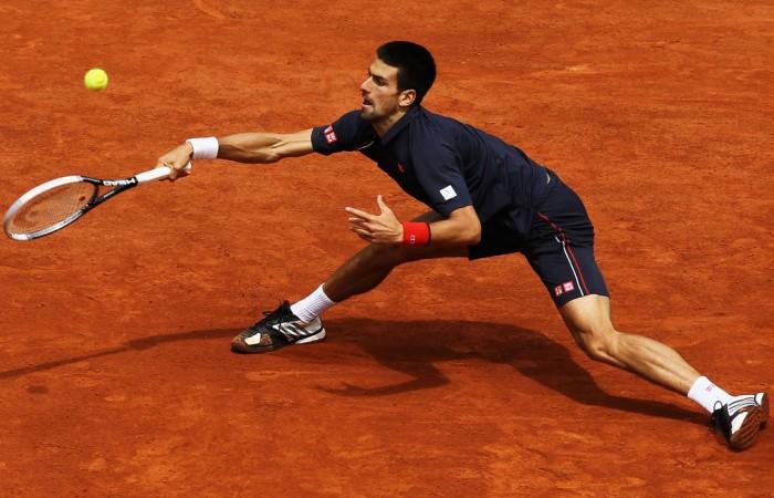 Novak Djokovic, Roland Garros 2012, Paris. GETTY IMAGES
