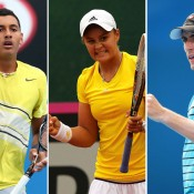 (L-R) Nick Kyrgios, Ash Barty and John Millman have been awarded wildcards for the upcoming French Open at Roland Garros, Paris; Getty Images