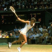 After marrying Roger Cawley in 1975, Evonne Goolagong gave birth to the couple's first child, Kelly Inala, in May 1977 - just seven months later, she was hoisting the 1977 Australian Open trophy (when the event was held in December). Goolagong more famously won at Wimbledon in 1980, and the next year had a second child, Morgan Kiema. She played on until 1985 before retiring from tennis; Getty Images