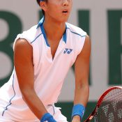 Rinky Hijikata in juniors action at Roland Garros in 2018; Getty Images