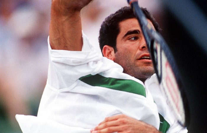 Pete Sampras, Colonial Classic, Kooyong, Melbourne, 2000. GETTY IMAGES