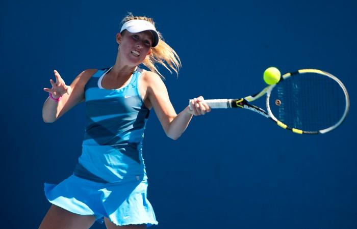 11 December, 2012. Storm Sanders at 2013 Australian Open Playoff. Xue Bai