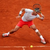 Rafael Nadal plays a forehand during the French Open men's singles final against David Ferrer at Roland Garros in Paris, France; Getty Images