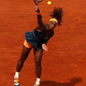 Serena Williams' serve was on song in the French Open final - she smacked nine aces, including one at 200km/h on match point, to claim her second title at Roland Garros; Getty Images