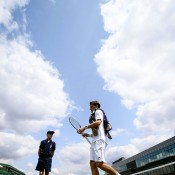 Matt Ebden was defeated in the first round by Kei Nishikori 6-2 6-4 6-3. GETTY IMAGES
