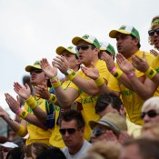 A Wimbledon staple - The Fanatics in full voice. GETTY IMAGES