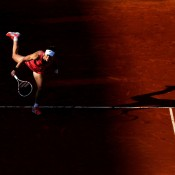 Sam Stosur serves during her third round match against Jelena Jankovic of Serbia on Day 7 of the French Open at Roland Garros in Paris, France; Getty Images