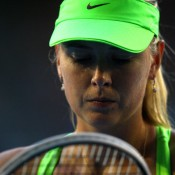 Maria Sharapova is notable for her visualisation ritual, narrow focus and employment of positive triggers in between points when competing; Getty Images