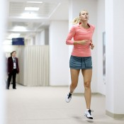 Maria Sharapova warms up, WTA Championships, Istanbul, 2012. GETTY IMAGES