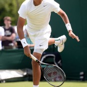 Nick Kyrgios made it to the third round of the Wimbledon 2013 boys' championships. GETTY IMAGES
