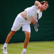 Brad Mousley made it to the second round of the Wimbledon 2013 boys' singles championships. GETTY IMAGES