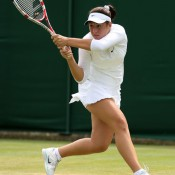 Sara Tomic was defeated in the first round of the Wimbledon 2013 girls' singles championships. GETTY IMAGES