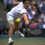 Known more for his doubles prowess, Todd Woodbridge created a stir in the singles arena with his run at 1997 Wimbledon. The Australian upset fifth seed Michael Chang 8-6 in the fifth set in the first round before upending compatriot Par Rafter, the 12th seed, in the fourth round. Woodbridge fell in the semifinals to eventual champion and world No.1 Pete Sampras; Getty Images
