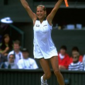 A highly-touted junior prospect, Anna Kournikova nevertheless surprised everyone when, as an unseeded 16-year-old, she advanced to the semifinals at Wimbledon in 1997. The Russian beat Chanda Rubin, No.7 seed Anke Huber and fourth seed Iva Majoil before fellow teen queen Martina Hingis halted her run; Getty Images