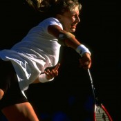Mirjana Lucic was ranked 134th when she roared into the semifinals at Wimbledon in 1999. She ousted No.4 seed Monica Seles and No.8 seed Nathalie Tauziat in a blaze of baseline power en route to the final four, where she lost in three tight sets to Steffi Graf; Getty Images