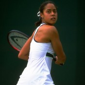 Ending Dokic's run in the 1999 Wimbledon quarterfinals was fellow qualifier Alexandra Stevenson, who employed her classic big-hitting style - including a one-handed backhand - to stop the Australian in three sets. Stevenson had earlier beaten No.11 seed Julie Halard-Decugis and Lisa Raymond on her way to the semis, where third seed Lindsay Davenport eventually stopped her; Getty Images