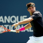 Marinko Matosevic of Australia in action during his third round victory over Benoit Paire of France at the ATP Rogers Cup in Montreal, sending him through to his first ATP Masters 1000 quarterfinal; Getty Images