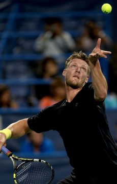 After winning his first ATP match in four years in the first round, Sam Groth came up against Milos Roanic in the second round of the ATP/WTA Citi Open in Washington, DC, falling 7-5 6-4; Getty Images