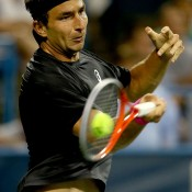 Marinko Matosevic plays a forehand during his first round victory over James Blake at the ATP/WTA Citi Open in Washington, DC; Getty Images