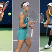 Sam Stosur (centre), Casey Dellacqua (L) and Anastasia Rodionova are in action this week in the main draw of the WTA Toray Pan Pacific Open in Tokyo, Japan; Getty Images