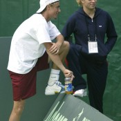 Lleyton Hewitt and Kim Clijsters dated for five years and even became engaged in December 2003, but separated in October 2004. The pair have since married new partners and both become parents; Getty Images)