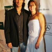 Carlos Moya and Flavia Pennetta were an item and played mixed doubles together occasionally before separating in 2007; Getty Images