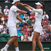 Jurgen Melzer and Iveta Benesova won the mixed doubles title at Wimbledon in 2011, and by September 2012, were married; Getty Images
